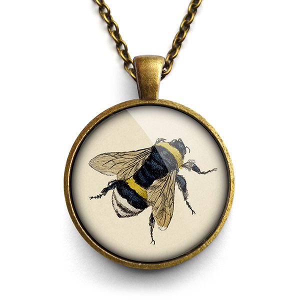 Vintage Bee Large Necklace (ER04) - product images  of