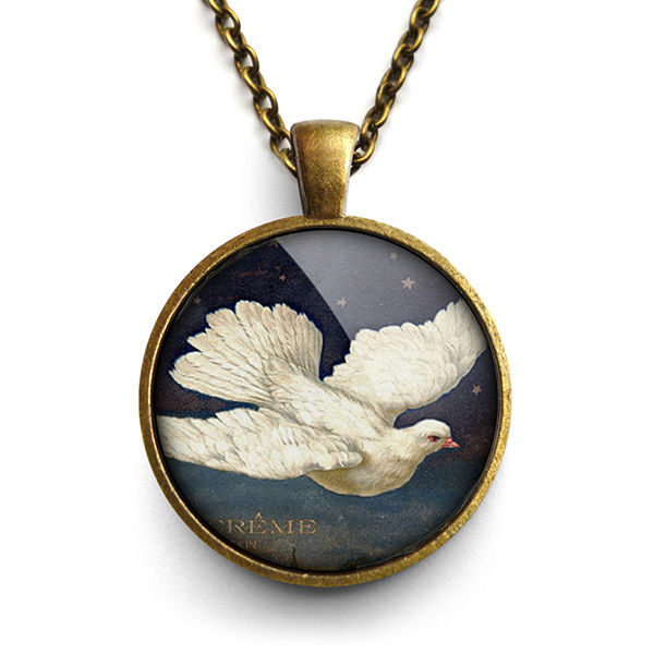 Vintage Dove Large Necklace (ER09) - product images  of