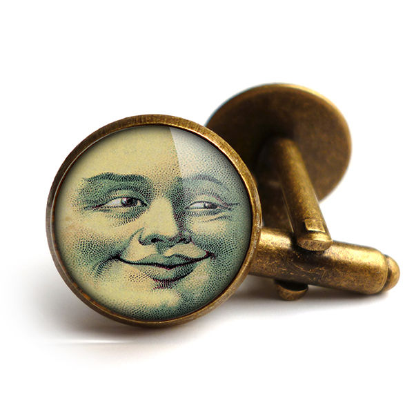 Vintage Moon Cufflinks (ER01) - product images  of
