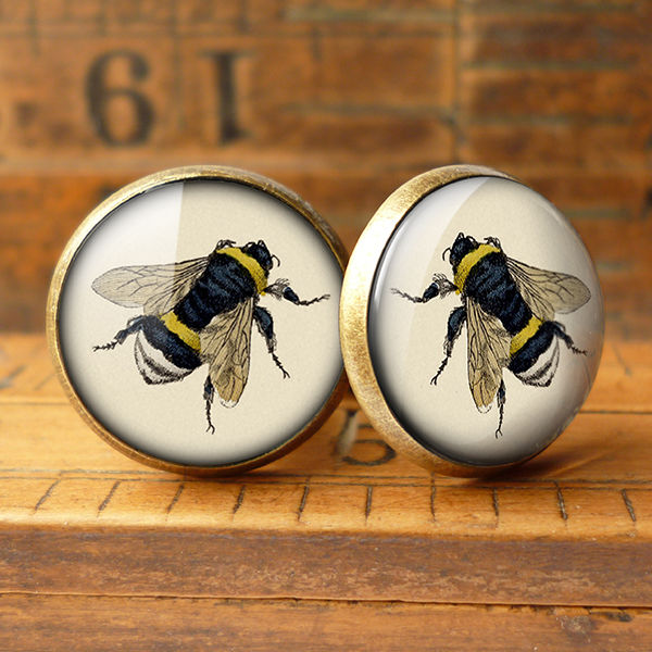 Vintage Bee Cufflinks (ER04) - product images  of