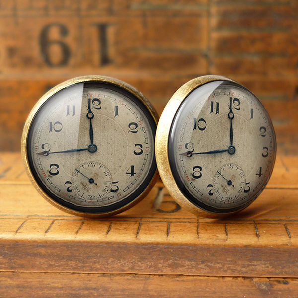 Vintage Clock Cufflinks (ER06) - product images  of