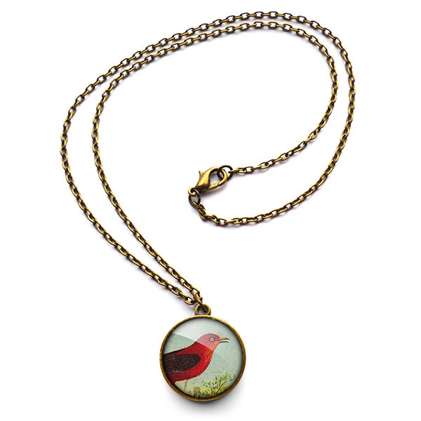 Red Bird Necklace (TB06) - product images  of