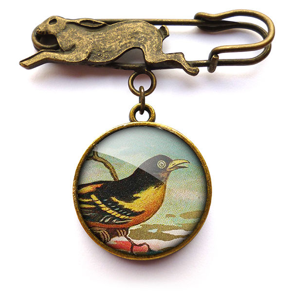 Affable Bird Hare Pin Brooch (TB03) - product images  of