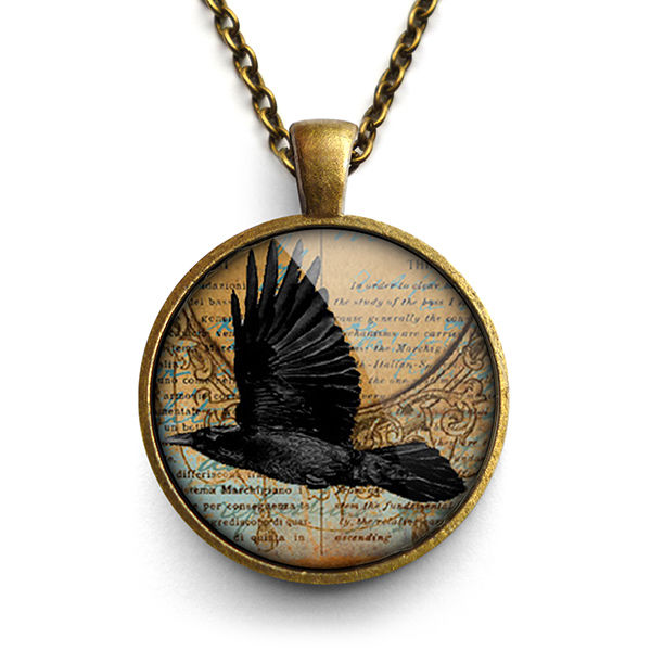 Raven In Flight Large Necklace (RR03) - product images  of