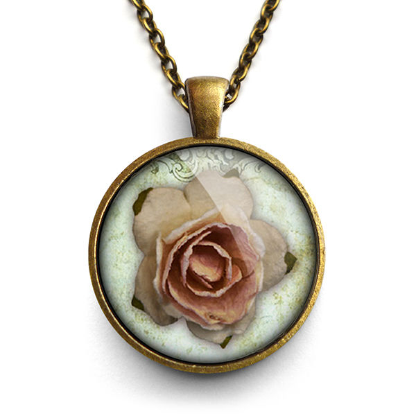 Pink Rose Large Necklace (RR08) - product images  of