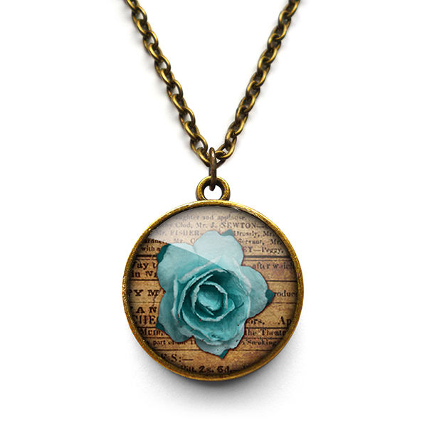 Blue Rose Necklace (RR02) - product images  of