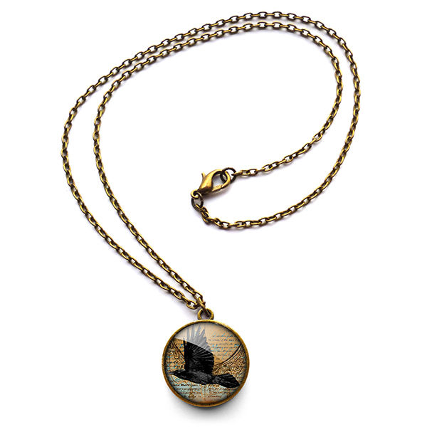 Raven In Flight Necklace (RR03) - product images  of