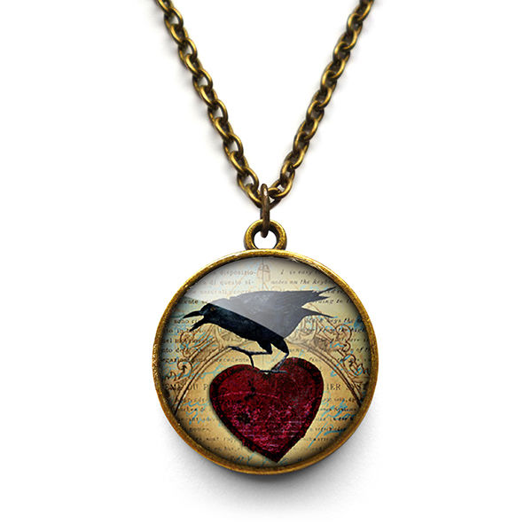 Raven and Red Heart No.1 Necklace (RR06) - product images  of