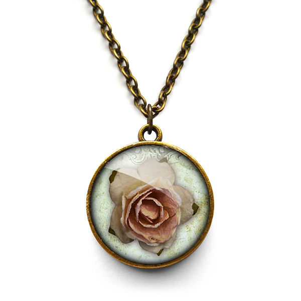 Pink Rose Necklace (RR08) - product images  of