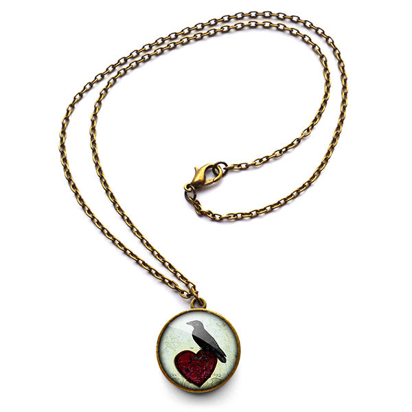Raven and Red Heart No.2 Necklace (RR09) - product images  of