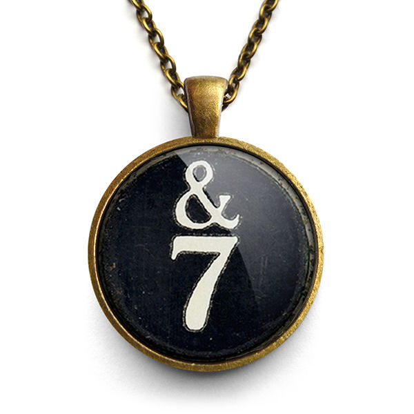 &7 Typewriter Key Large Necklace (DJ01) - product images  of