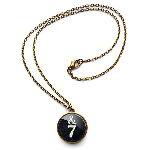&7 Typewriter Key Necklace (DJ01) - product images  of