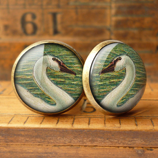 White Swan Cufflinks (TB05) - product images  of