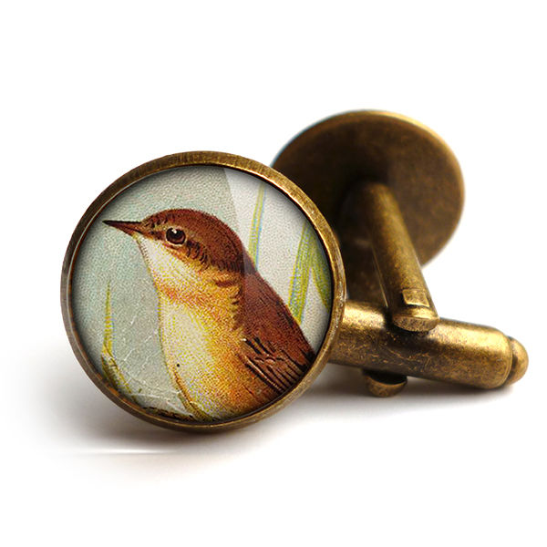 Reed Warbler Cufflinks (TB07) - product images  of