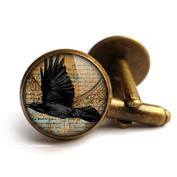 Raven In Flight Cufflinks (RR03) - product images  of