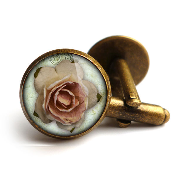 Pink Rose Cufflinks (RR08) - product images  of