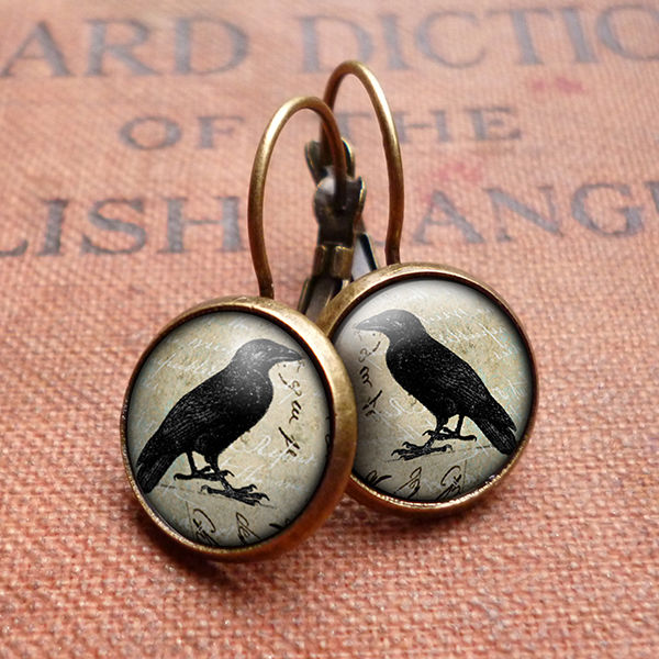 Raven No.1 Leverback Earrings (RR01) - product images