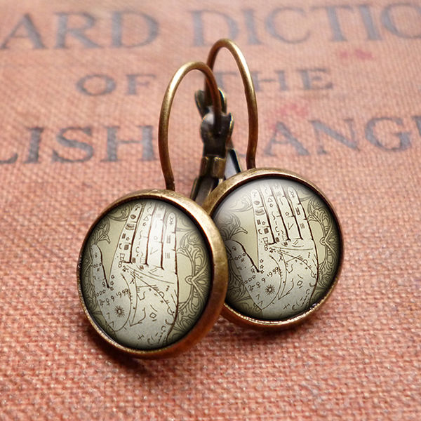 Palmistry Leverback Earrings (DJ08) - product images