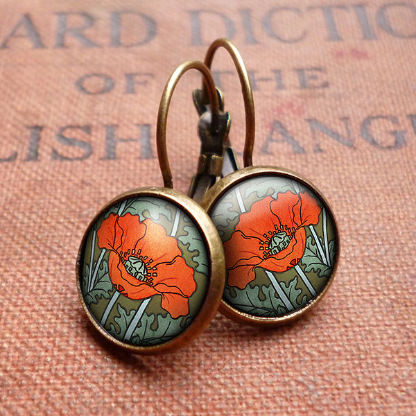 Poppy Leverback Earrings (AN07) - product images