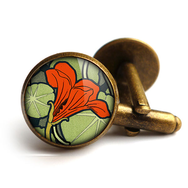 Nasturtium Cufflinks (AN01) - product images  of