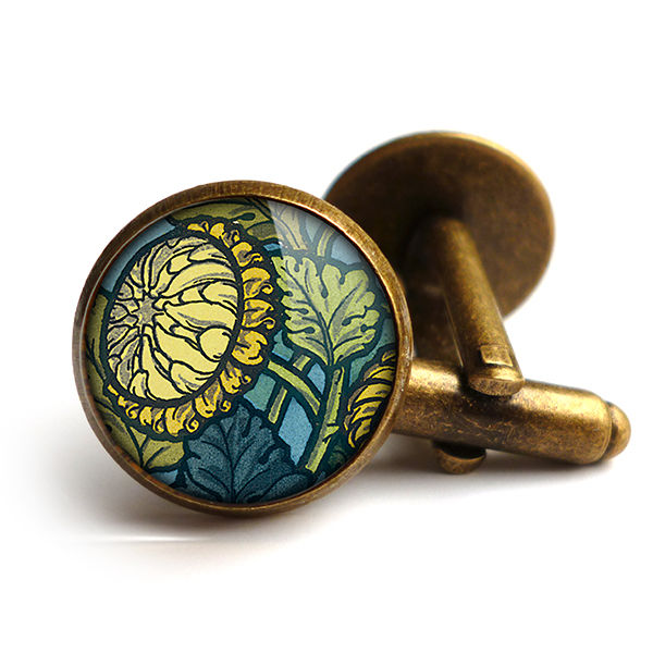 Chrysanthemum Cufflinks (AN06) - product images  of