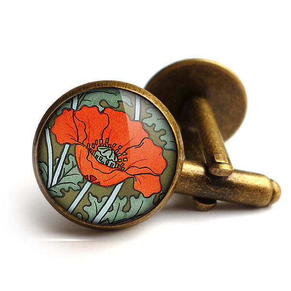 Poppy Cufflinks (AN07) - product images  of