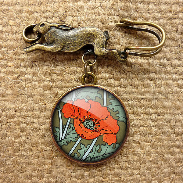Poppy Hare Pin Brooch (AN07) - product images  of