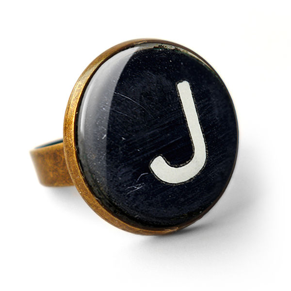 Personalised Initial Alphabet Typewriter Key Ring (AL01) - product images  of
