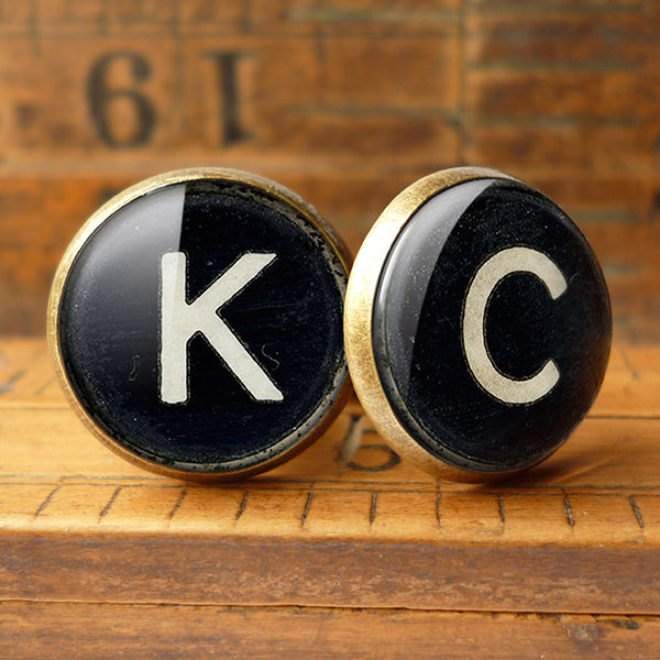 Personalised Initials Alphabet Number Typewriter Key Cufflinks (AL01) - product images  of