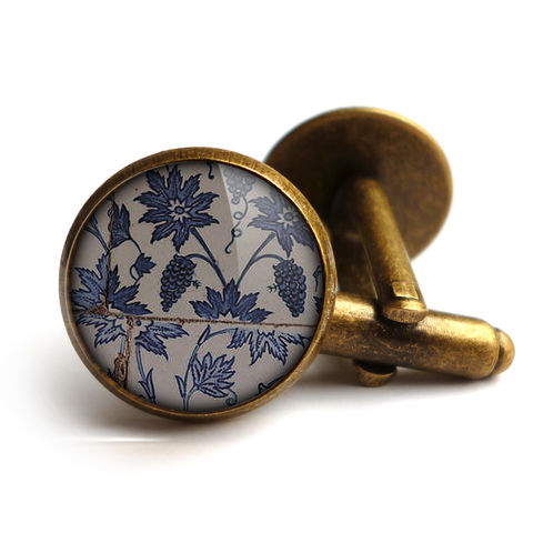 Tiles,Cufflinks,(BP06),jewellery, jewelry, handmade, brass, cufflinks, vintage, glass, cabochon, broken pottery, tiles, pattern