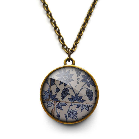 Tiles,Necklace,(BP06),jewellery, jewelry, handmade, brass, necklace, vintage, glass, cabochon, broken pottery, tiles, pattern