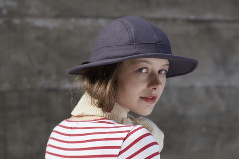 PENNY,Charcoal,wool hat, wool wide brim, winter hat