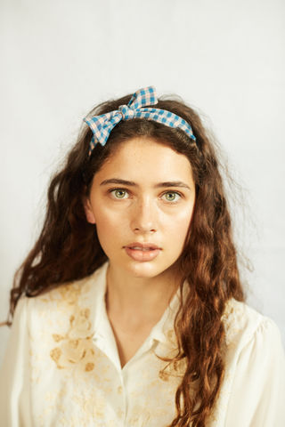 FRIEDA,-,Gingham,headband, summer headband, bow headband, gingham, gingham headband