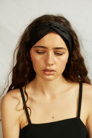 MARNIE,-,Black,silk,headband, summer headband, silk headband, turban headband, black headband