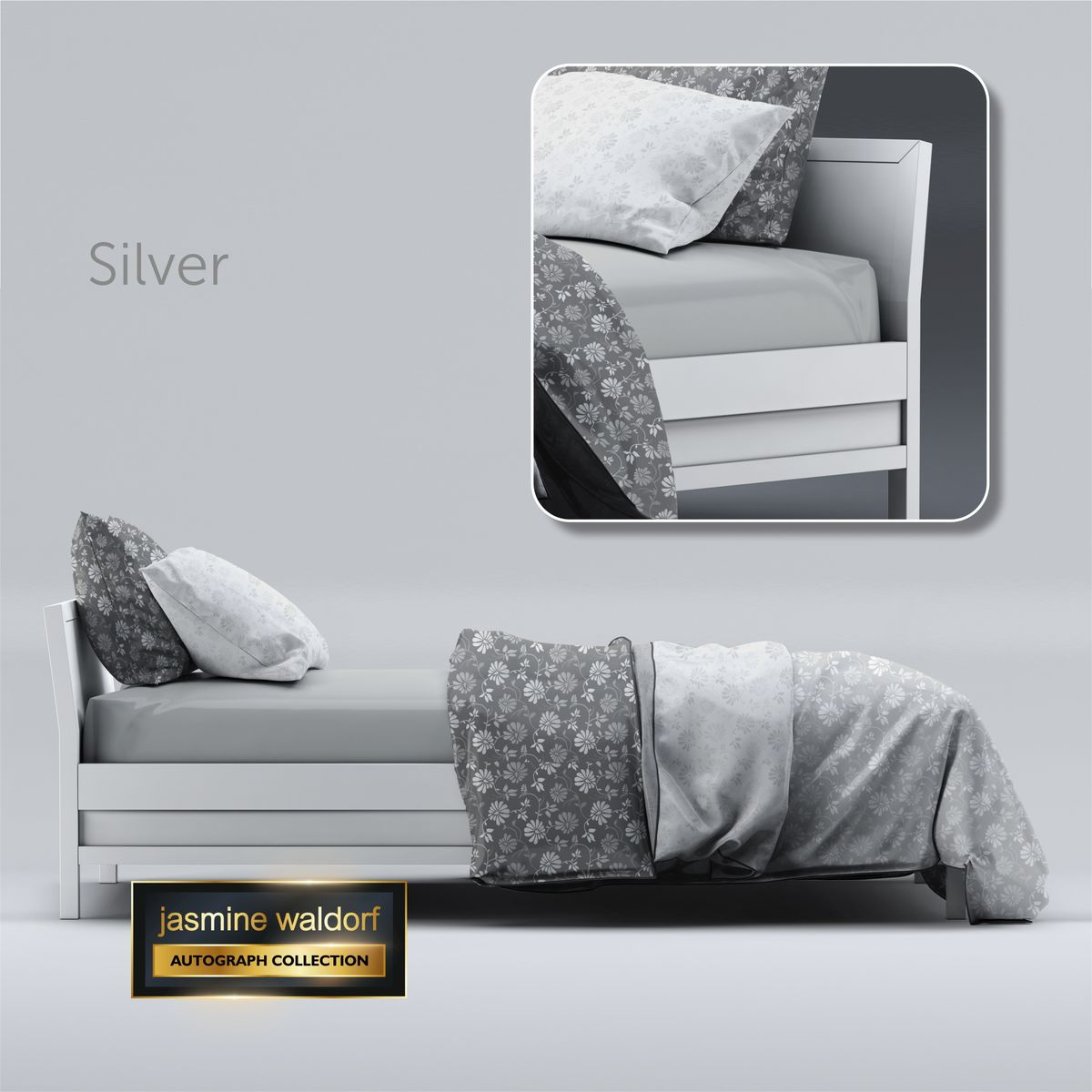 Jasmine Waldorf Luxury Fitted Bed Sheet (Double) - product images  of