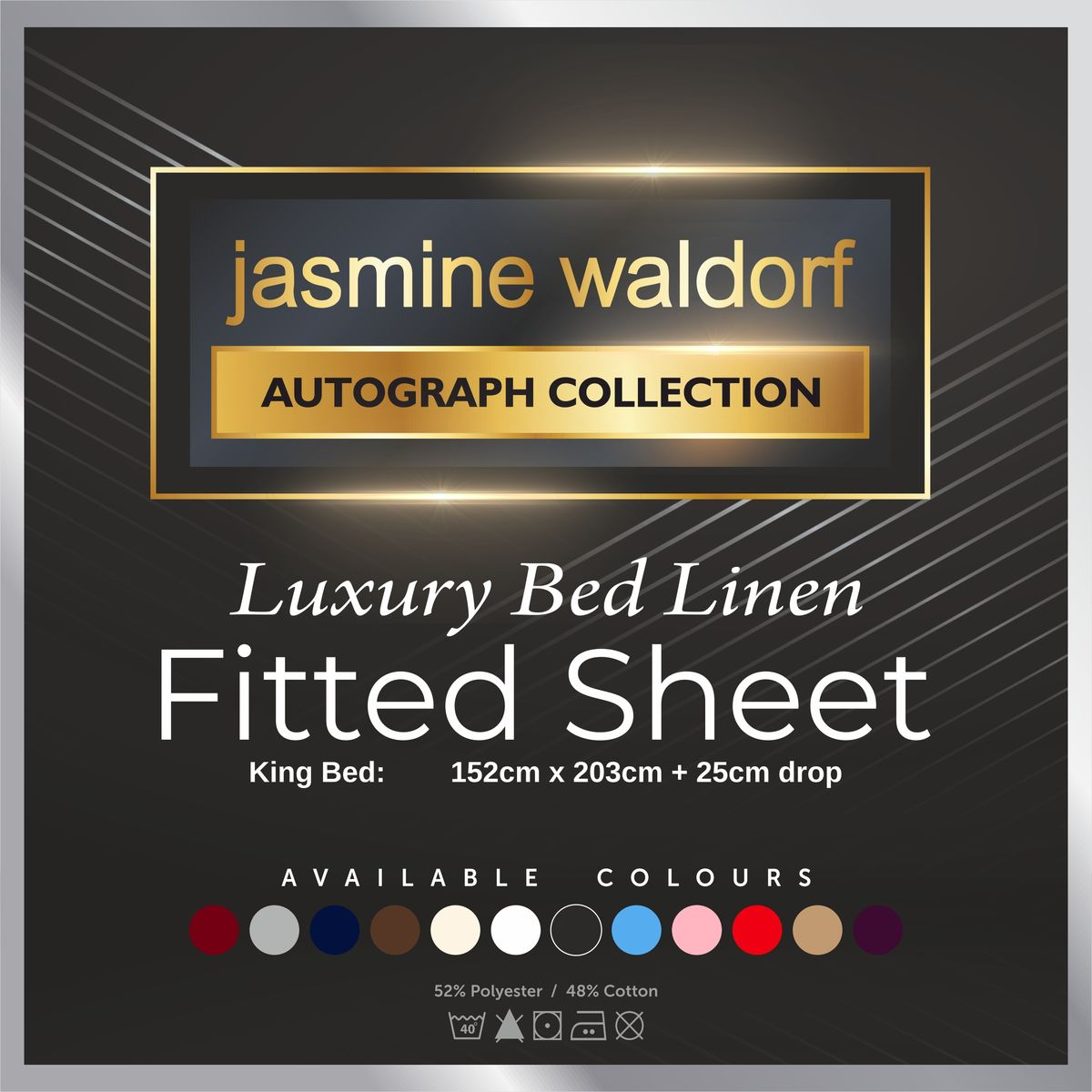 Jasmine Waldorf Luxury Fitted Bed Sheet (King) - product images  of