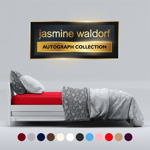 Jasmine,Waldorf,Luxury,Fitted,Bed,Sheet,(Double),jasmine,waldorf,amazon,nextday2u,bed,bedding,fitted,duvet,sheet