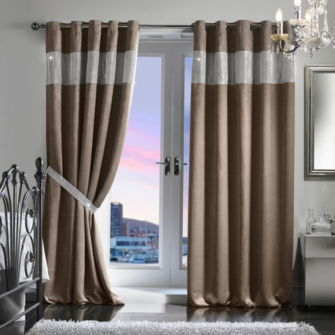 Diamante,Eyelet,Embossed,Blackout,Curtain,&,Holdback,Set,(229x229cm/90x90),Jasmine Waldorf Eyelet Blackout Curtain Diamante JW Latifs