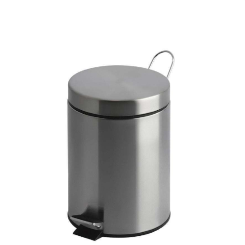 Brushed,Stainless,Steel,Pedal,Bin,3ltr