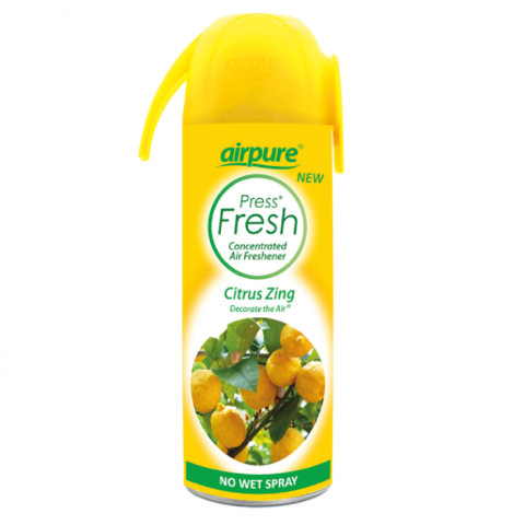Airpure,Citrus,Zing,Concentrated,Air,Freshener,180ml,Airpure Citrus Zing Concentrated Air Freshener 180ml