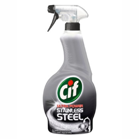 Cif,Ultra,Power,Stainless,Steel,Cleaner,500ml,Cif Ultra Power Stainless Steel Cleaner 500ml