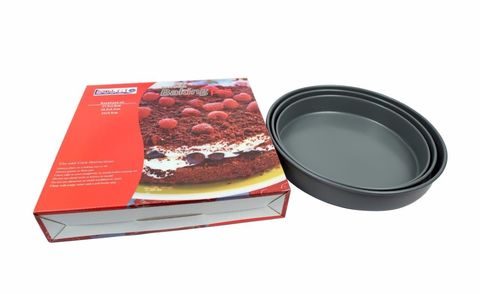 Nonstick,Bakeware,Round,Baking,Pan,Set,of,3,Nonstick Bakeware Round Non-stick Baking pan Set