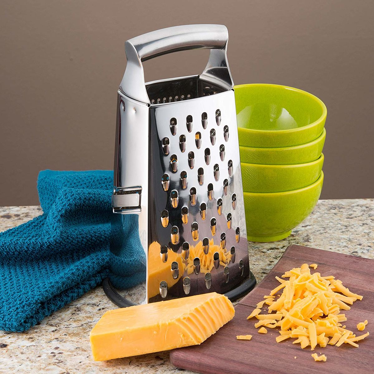 Stainless Steel Multi Four 4 Sided Grater & Shredder - product images  of