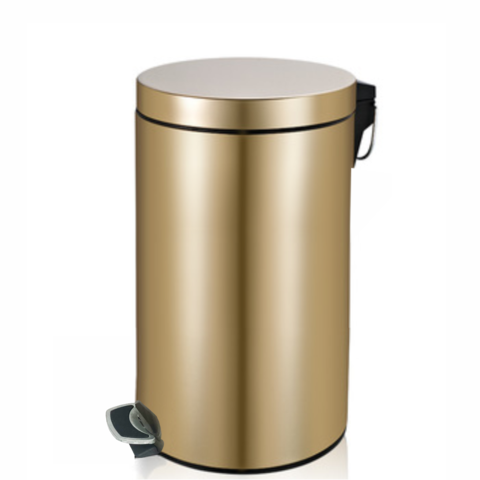 Stainless,Steel,Step,Bin,20,Litre,-,Champagne,Gold,Stainless Steel Step Bin 20 Litre, bin, step bin, steel, steel bin,
