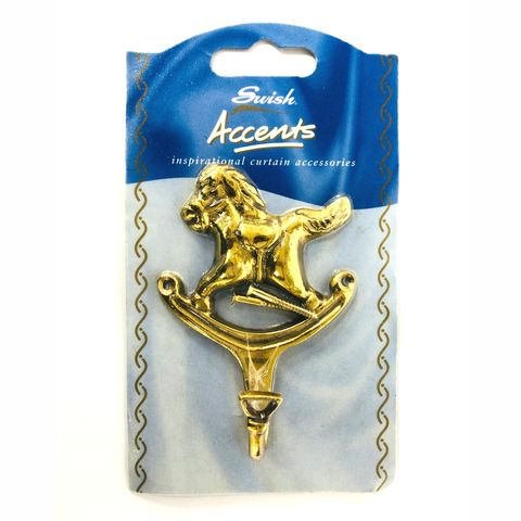 Swish,Brass,Horse,Tie,Back,Hook,Swish Horse Tie Back Hook, tassel hook,