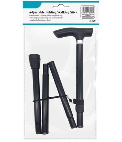 Adjustable,Folded,Aluminium,Walking,Stick,Adjustable Folded Aluminium Walking Stick