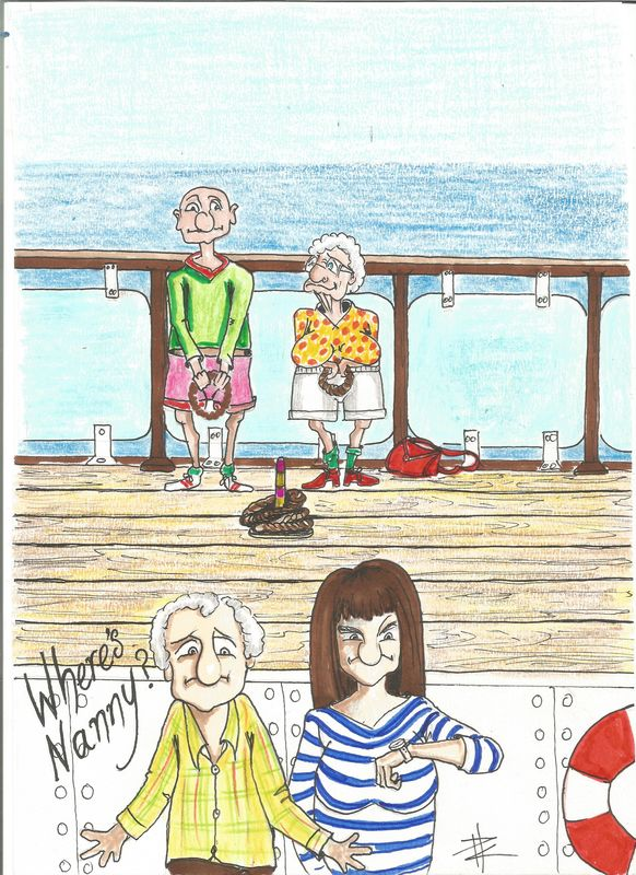 Wheres Nanny on the peir Geetings Card(NANN5) - product images