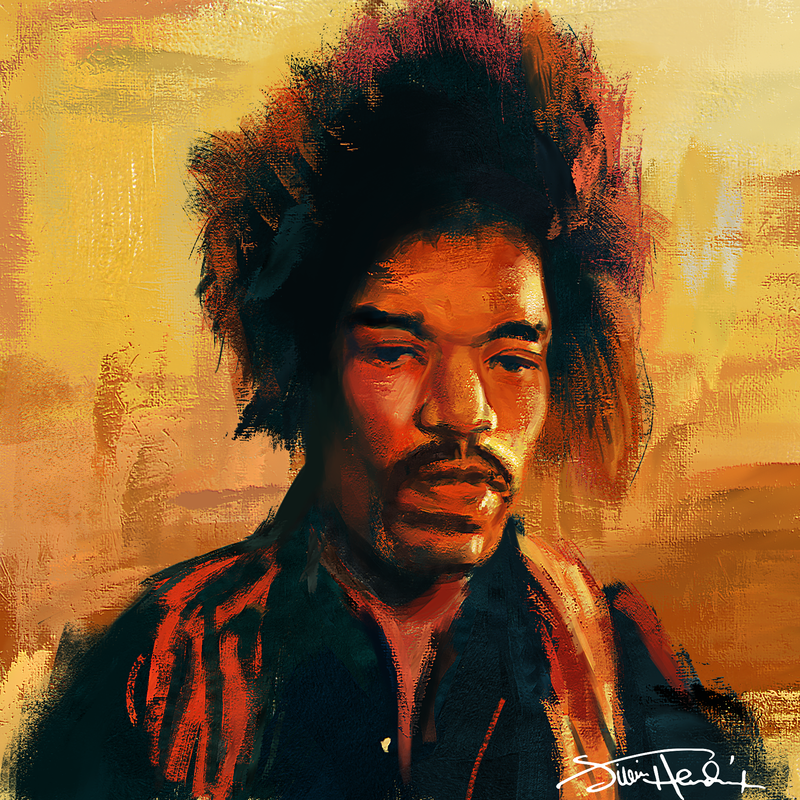 Jimmy Hendrix Greetings Card - product images