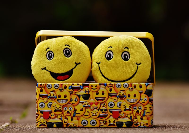 Two Smiley Faces in a box(CARA3) - product images