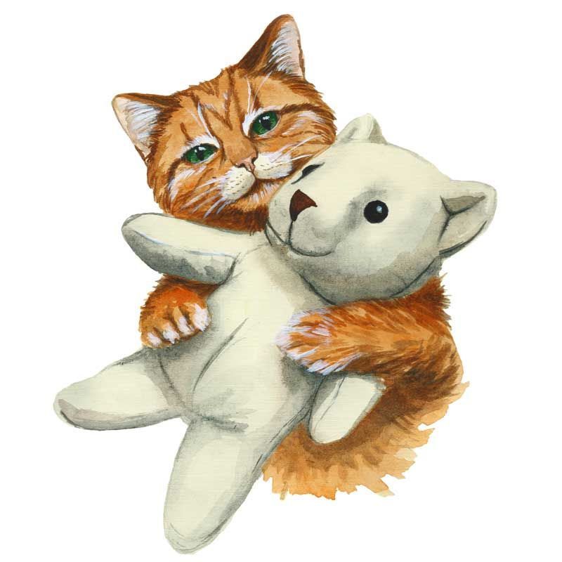 Teddy and Cat(marie3) - product images